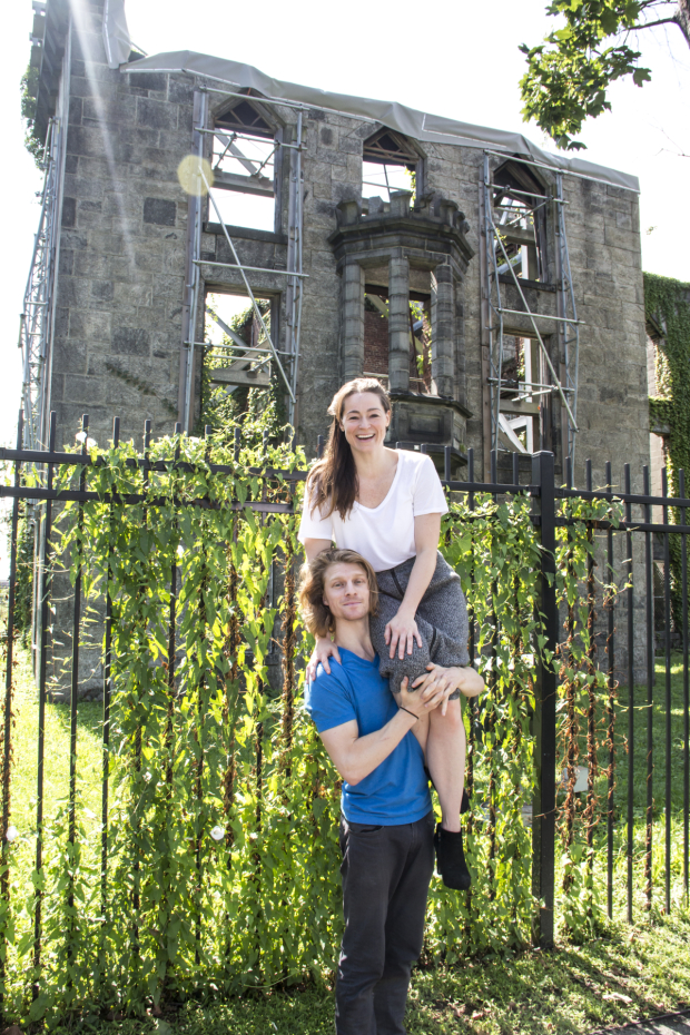 At the Renwick Smallpox Hospital on Roosevelt Island, Colin Bates and Anna Bates stage a scene from Lucy Prebble's The Effect.