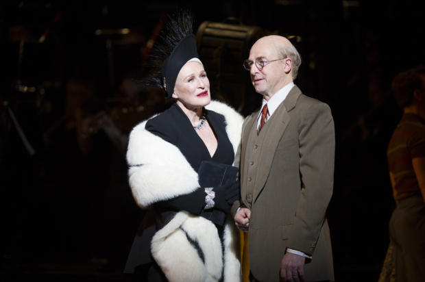 Glenn Close as Norma Desmond and Julian Forsyth as Cecil B. DeMille in the recent London revival of Sunset Boulevard.