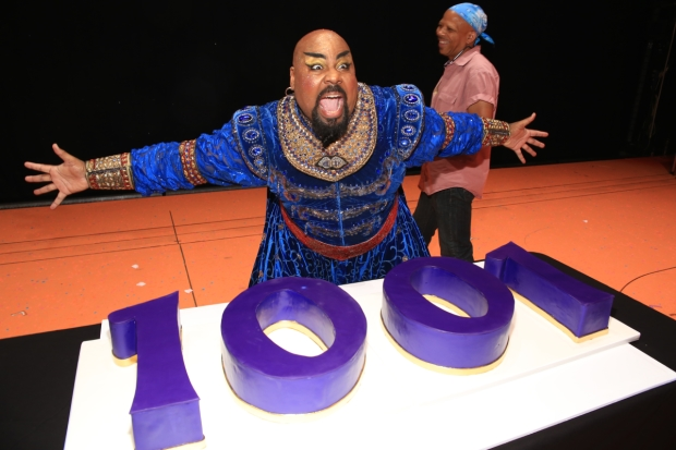 James Monroe Iglehart, the show's Genie, would prefer not to have to share.