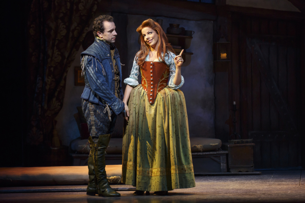 Rob McClure and Leslie Kritzer star in Something Rotten!