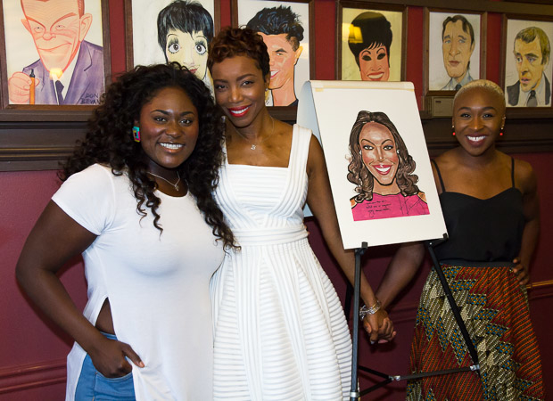 Healther Headley (center) with her proud Color Purple costars Danielle Brooks (left) and Cynthia Erivo (right).