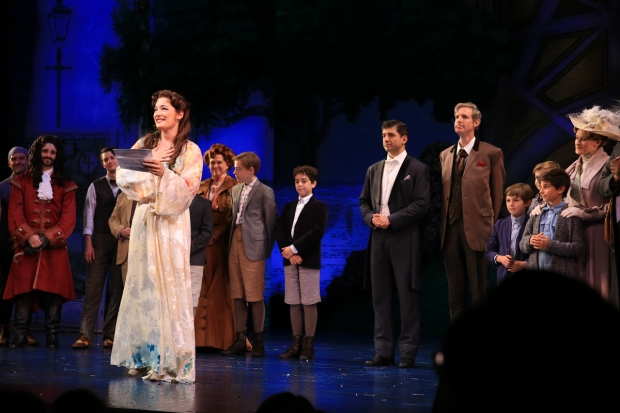Laura Michelle Kelly delivers a farewell speech as the curtain comes down on Finding Neverland.