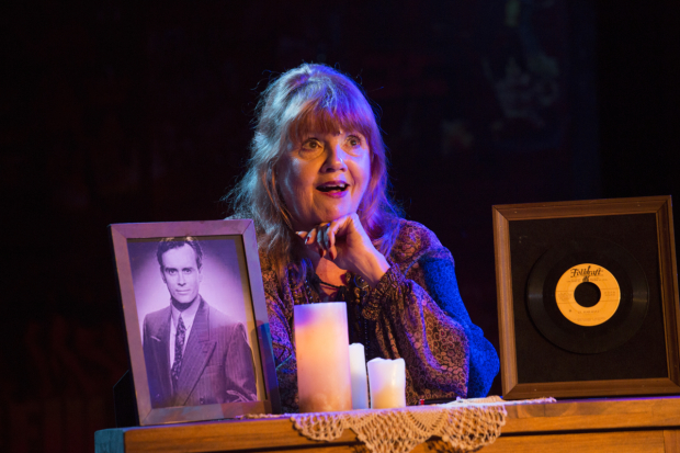 Annie Golden in Braodway Bounty Hunter, directed by Julianne Boyd, at Barrington Stage Company.
