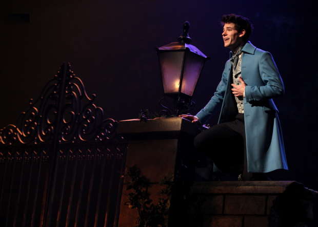 McCarrell performing as Marius at the Imperial Theatre.