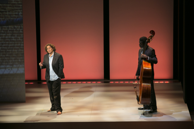 Anna Deavere Smith and Marcus Shelby in Notes from the Field: Doing Time in Education, directed by Leonard Foglia, at the American Repertory Theater.