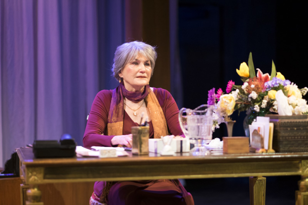 Annette Miller as Bernadette Kahn in Sotto Voce, directed by Daniel Gidron, at Shakespeare & Company.