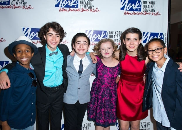 Jeremy T. Villas, Aidan Gemme, Joshua Colley, Milly Shapiro, Mavis Simpson-Ernst, and Gregory Diaz star in the York Theatre Company's production of You're a Good Man, Charlie Brown.