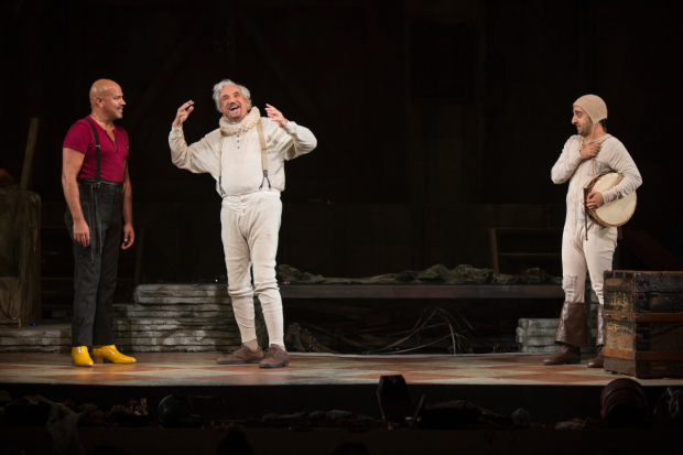 Philip Anthony-Rodriguez, Hal Linden, and Amir Talai in the Pasadena Playhouse production of The Fantasticks.