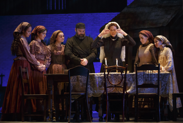 The cast of Fiddler on the Roof at the Broadway Theatre.