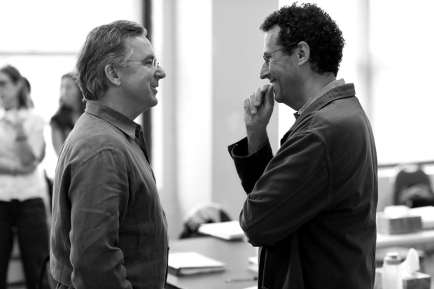 James Houghton worked with Tony Kushner during rehearsals of Angels in America in 2010.