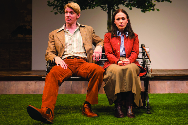 Christian Pedersen and Laura C. Harris in Cloud 9, directed by Michael Kahn, at Studio Theatre.