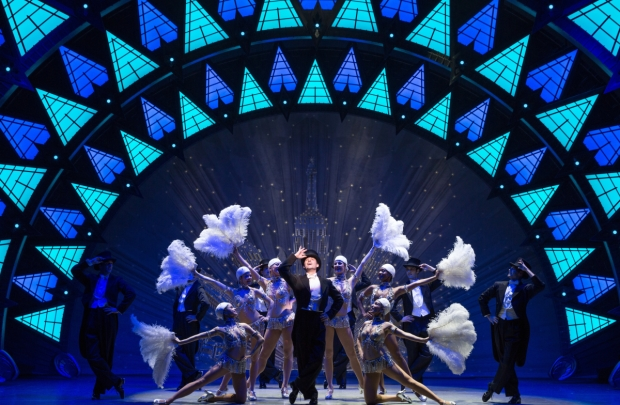 """Max von Essen leads the production number """"Stairway to Paradise"""" in An American in Paris."""