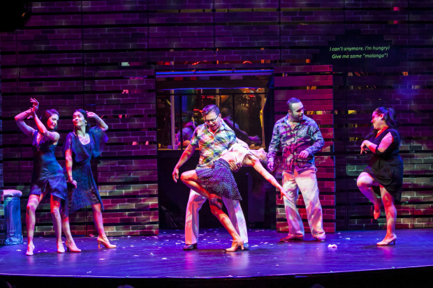 The cast of I Like It Like That performs Waddys Jáquez's energetic choreography.
