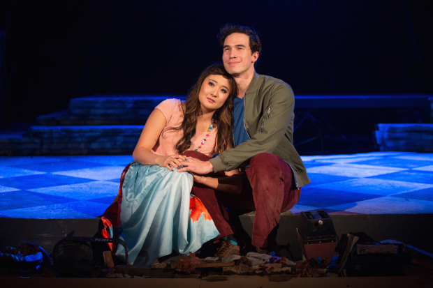 Ashley Park and Conor Guzmán in The Fantasticks, directed by Seema Sueko, at the Pasadena Playhouse.