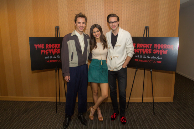 Fox's The Rocky Horror Picture Show stars Reeve Carney, Victoria Justice, and Ryan McCartan.