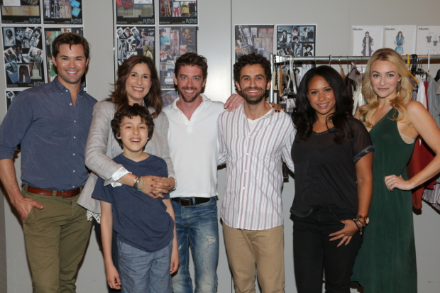 The cast of Falsettos, beginning performances at the Walter Kerr Theatre on September 29.