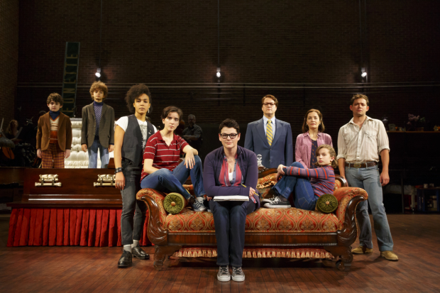 The full cast of the Fun Home national tour.