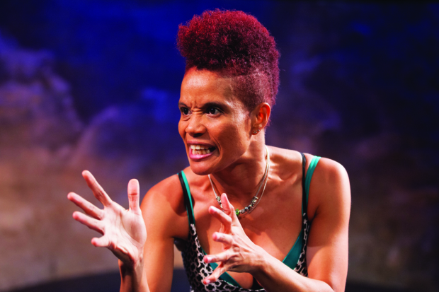 Staceyann Chin, writer and star of Motherstruck, directed by Matt Torney, at Studio Theatre.