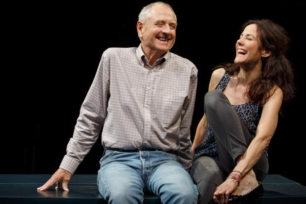 Denis Arndt and Mary-Louise Parker star in Simon Stephens' Heisenberg, directed by Mark Brokaw, at MTC's Samuel J. Friedman Theatre.