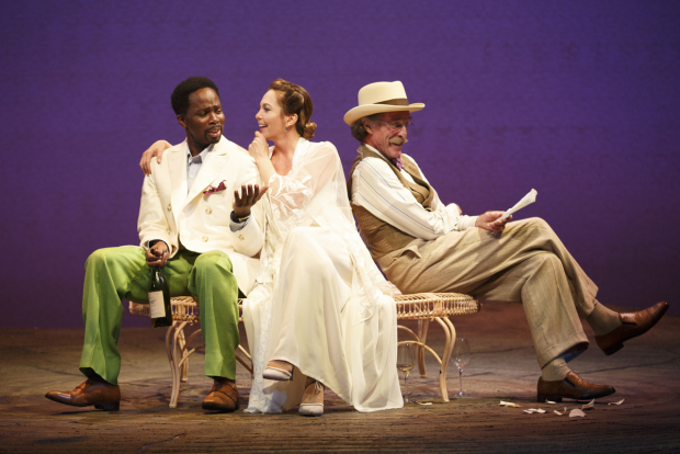 Harold Perrineau, Diane Lane, and John Glover star in Stephen Karam's adaptation of Anton Chekhov's The Cherry Orchard, directed by Simon Godwin, for Roundabout Theatre Company at the American Airlines Theatre.