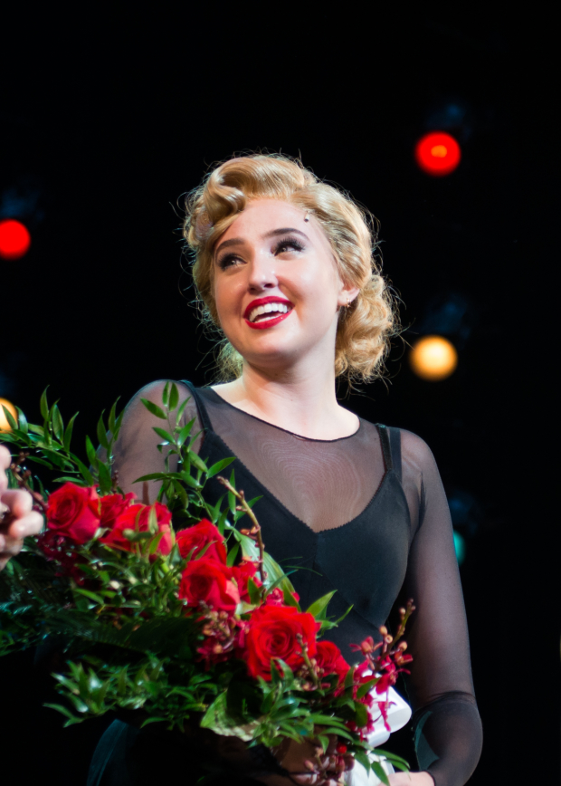 Veronica Dunne takes her first bow as Roxie Hart in Broadway's Chicago.