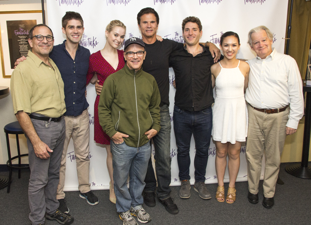 Lorenzo Lamas (center) poses with his Fantasticks costars.