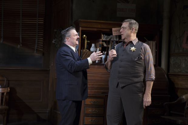 Nathan Lane and John Goodman star in the Broadway revival of The Front Page.