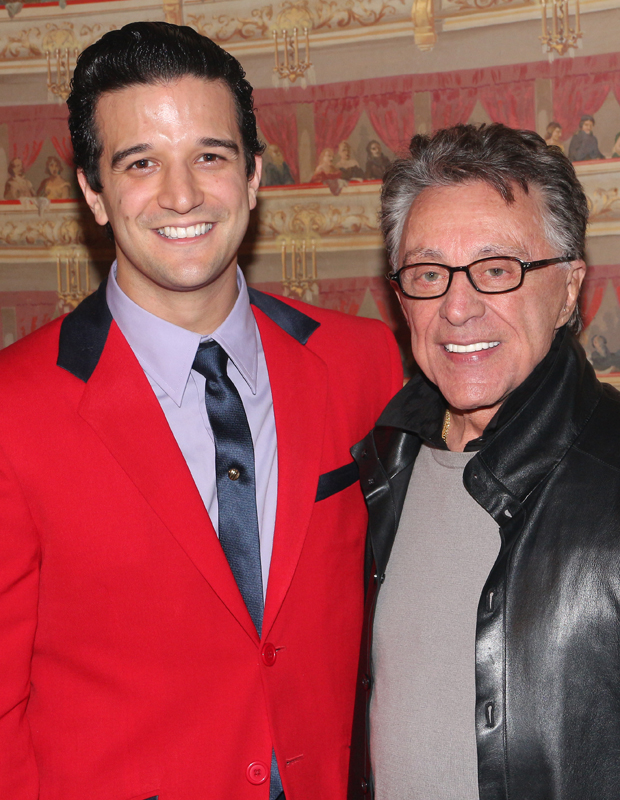 Mark Ballas, the current Frankie Valli in Jersey Boys, meets the real Valli at the Lunt-Fontanne Theatre.