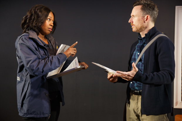 Marinda Anderson and Brad Heberlee star in A Life at Playwrights Horizons.