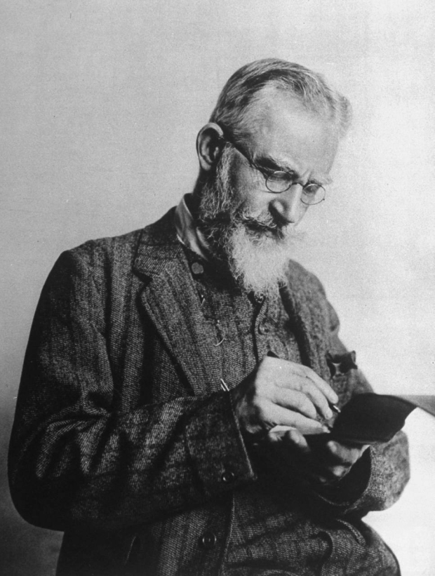 George Bernard Shaw in 1914.
