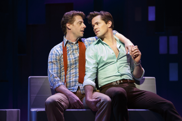 Christian Borle and Andrew Rannells star in William Finn's Falsettos, directed by James Lapine, for Lincoln Center Theater at Broadway's Walter Kerr Theatre.