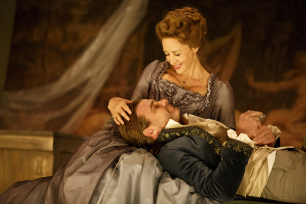 Janet McTeer and Liev Schreiber star in the Broadway revival of Christopher Hampton's Les Liaisons Dangereuses, directed by Josie Rourke, at the Booth Theatre.