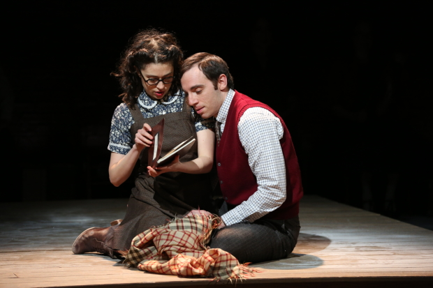 Adina Verson and Max Gordon Moore in the Vineyard Theatre production of Indecent.