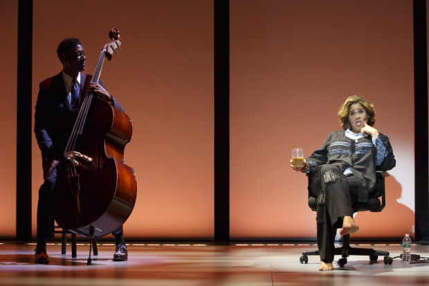 Composer Marcus Shelby accompanies Anna Deavere Smith in Notes From the Field.