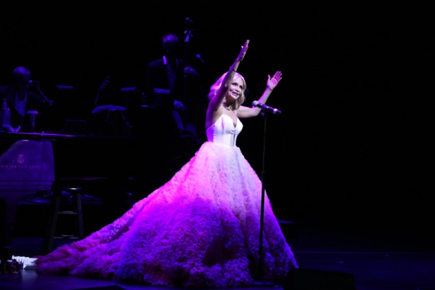 Kristin Chenoweth beams her energy out to the crowd at the Lunt-Fontanne Theatre in My Love Letter to Broadway.