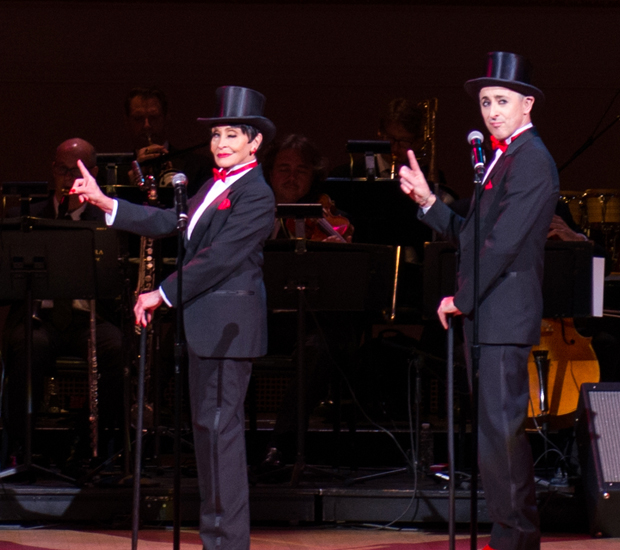 """Chita Rivera and Alan Cumming perform """"Nowadays"""" from Chicago on stage at Carnegie Hall."""