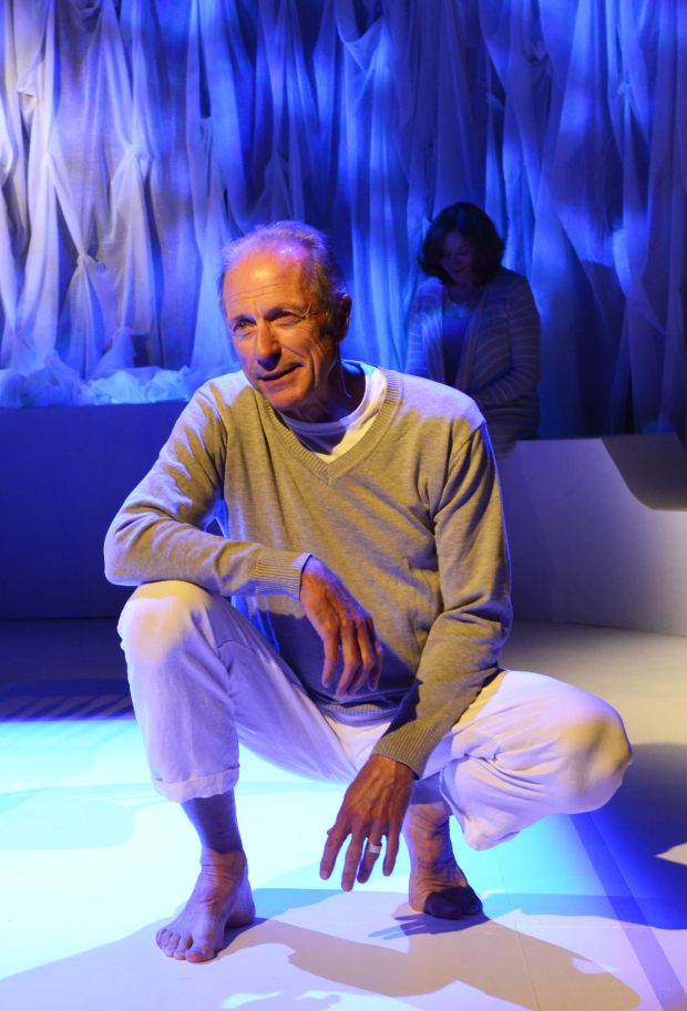 Will Lyman in Israel Horovitz's Man in Snow at La MaMa.