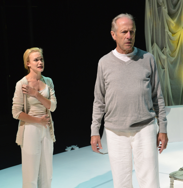 Ashley Risteen and Will Lyman star in Man in Snow, written by Israel Horovitz, at La MaMa.