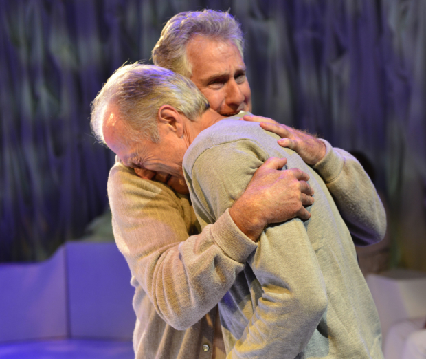 Paul O'Brien and Will Lyman as Connie and David in Man in Snow.