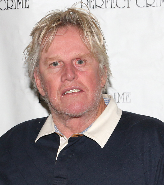 Gary Busey is the new star of off-Broadway's long-running Perfect Crime.