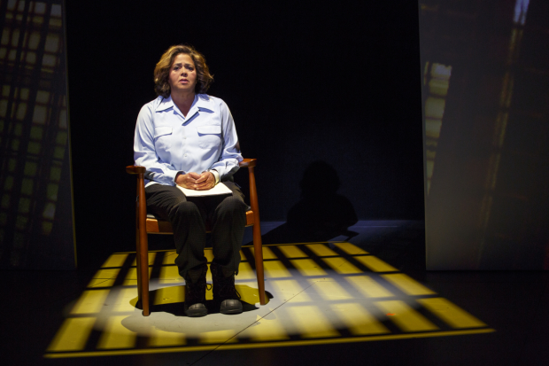 Anna Deavere Smith in Notes from the Field: Doing Time in Education at Second Stage Theatre.