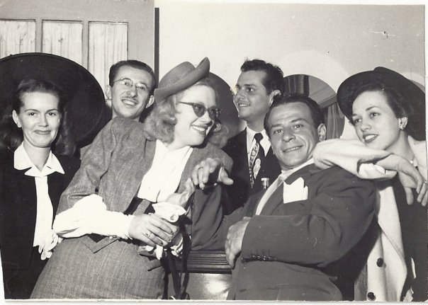 Piper's mother and father (center), surrounded by a group of their show business friends.