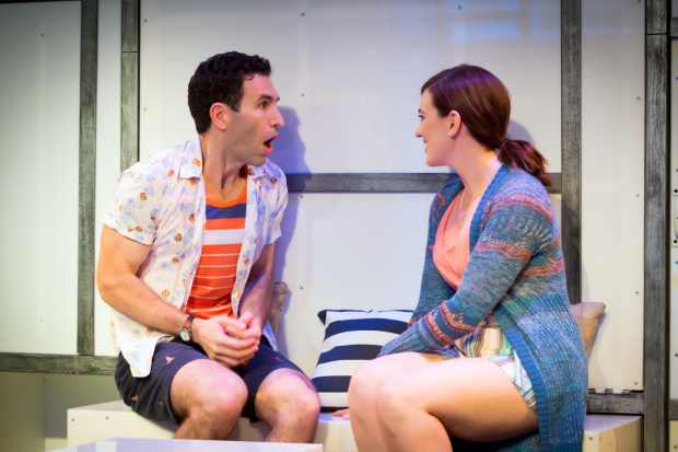 David Perlman stars with Stefanie Brown in A Dog Story, directed by Justin Baldridge, at the Loft at the Davenport Theatre.