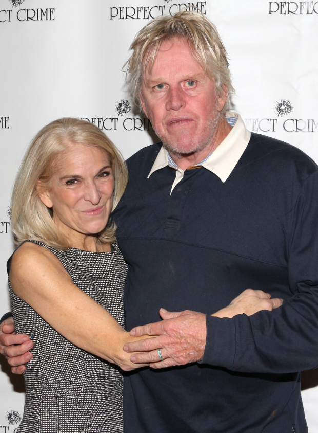Gary Busey poses with longtime Perfect Crime star/producer Catherine Russell.