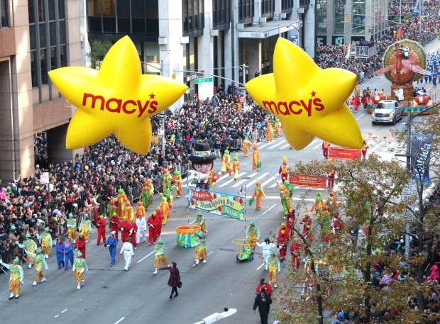 The 2015 Macy's Thanksgiving Day Parade on Sixth Avenue.