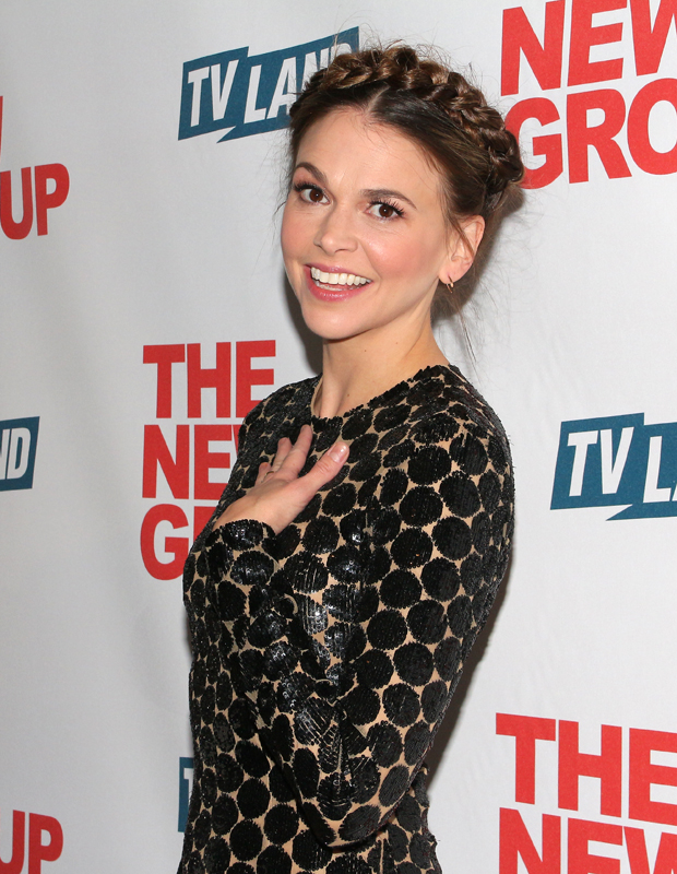 Sutton Foster celebrates her opening night in Sweet Charity.