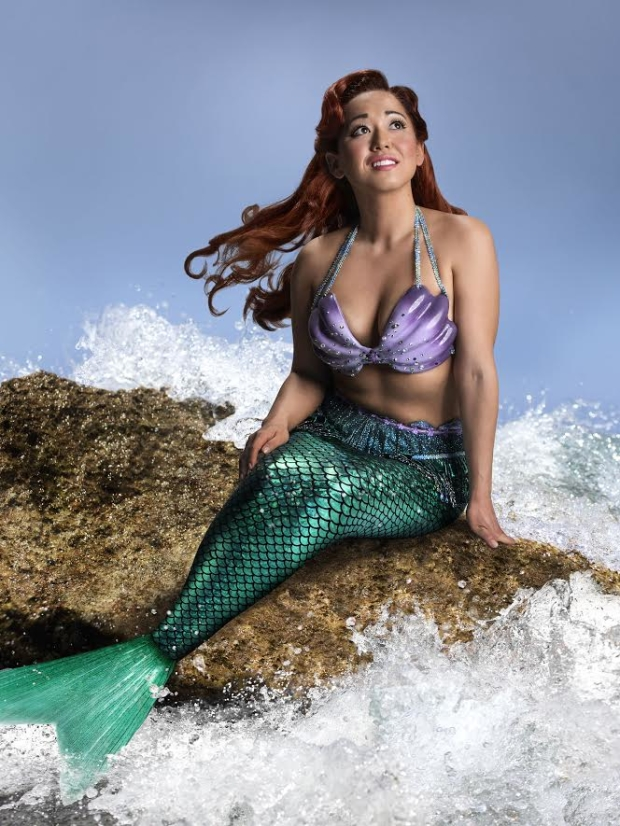 Diana Huey stars as Ariel in Disney's The Little Mermaid, directed by Glenn Casale, at the 5th Avenue Theatre.