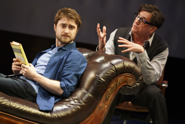 Daniel Radcliffe and Reg Rogers starred in James Graham's Privacy at the Public Theater.