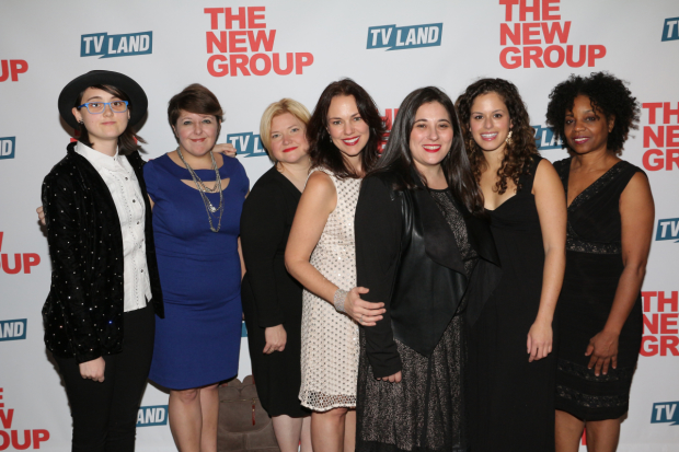 The Sweet Charity music team: Janna Graham, Elizabeth Hagstedt, Mary-Mitchell Campbell, Georgia Stitt, Elana Arian, Alexa Tarantino, and Nioka Workman
