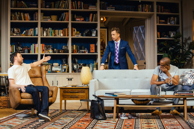 Nate Corddry, Lucas Near-Verbrugghe, and Keith Powell in Icebergs, directed by Randall Arney at the Geffen Playhouse.